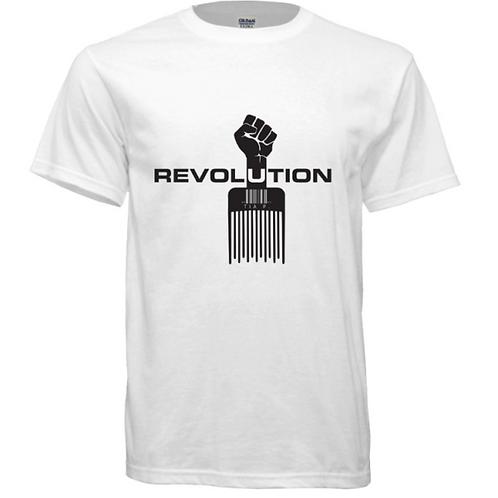 Short Sleeve REVOLUTION Crew-neck T-Shirt – White