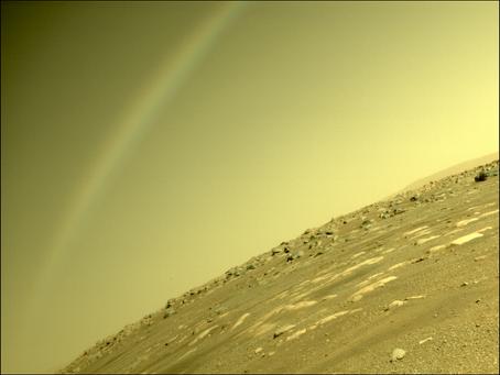 NASA divulga foto de arco-íris em Marte e explica o fenômeno