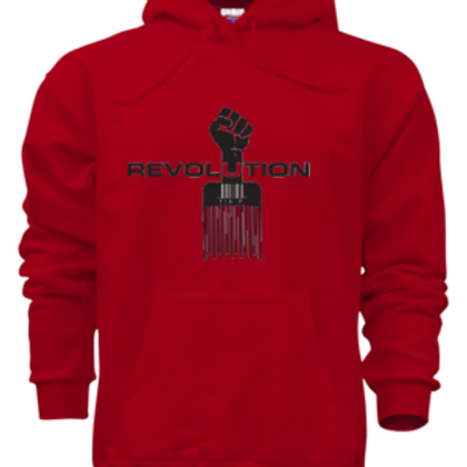 ADULT REVOLUTION HOODIE RED - WHITE