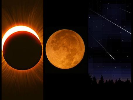 Eclipses, Chuvas de Meteoros e Superluas marcam o calendário de 2021