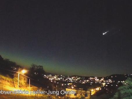 Meteoro de alta magnitude iluminou o céu do Rio Grande do Sul