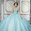Thumbnail: Morilee 89315 Box-Pleated Metallic Satin Quinceañera Dress