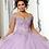 Thumbnail: Morilee 60144 Beaded Fringe Glitter Tulle Quinceañera Dress