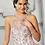 Thumbnail: Morilee 89317 Contrasting Metallic Printed Tulle Quinceañera Dress