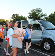 Students Arriving at Beaver Creek Baptist Church