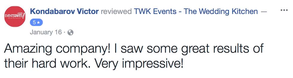 TWK wedding reviews