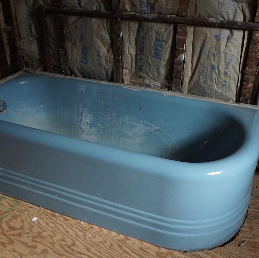 Bathroom tub gutted