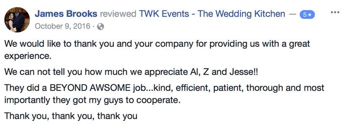 NJ wedding reviews
