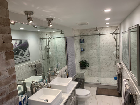 Exciting new bathroom