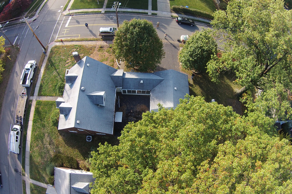 Aerial of this roof by Tristate remodelers drone
