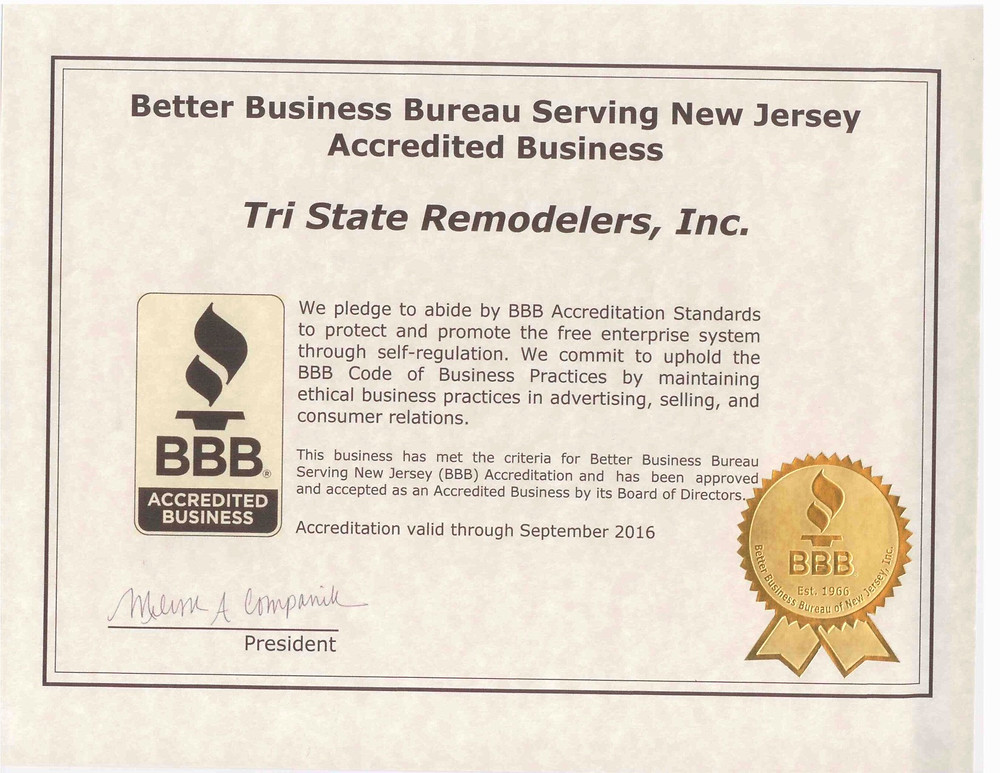See our yearly BBB certificate. Tristate Remodelers takes its certifications seriously. #tristateremodelers #BBB #reviews