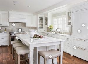 White kitchen remodel   NJ home improvement company