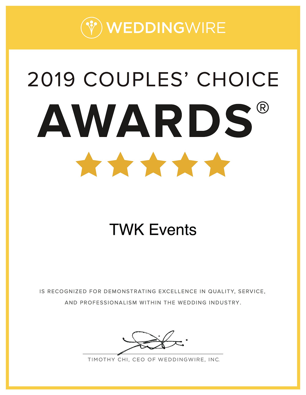 2019 Couples' Choice Award - NJ DJ - TWK