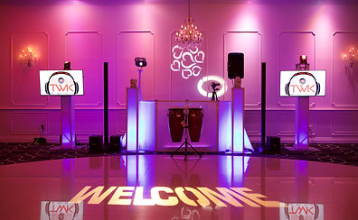 NJ DJ - Dj Plasma screen set-up