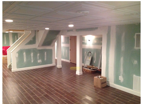 Finished basement | Tristate Remodelers