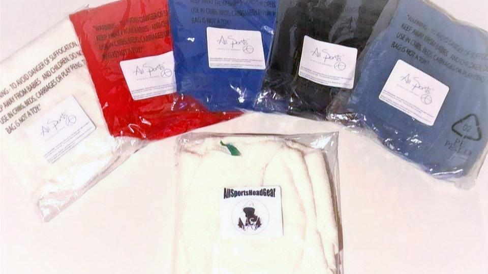 5 AllSportsHeadGear assorted colors