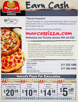"""""""Pizza For Prevention"""""""