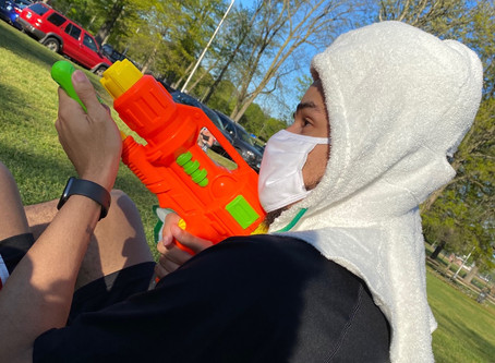 #AllSportsHeadGear and super soaker war.