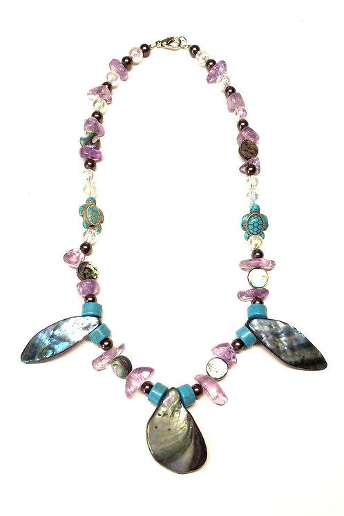 Amethyst & Bubbles Necklace