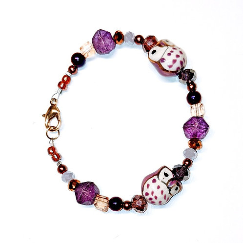 Purple Owls Bracelet
