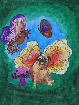 While Teaching the Seahorse to Fly the Butterfly Came Upon A Fairy Pug
