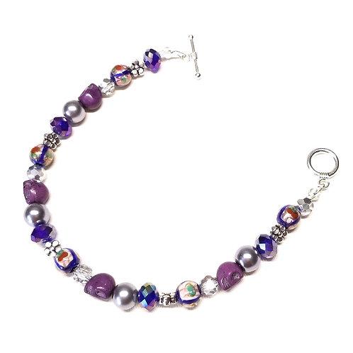 Blue and Purple Festival Bracelet