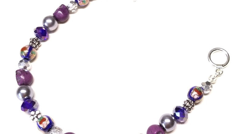 Blue and Purple Festival Bracelet