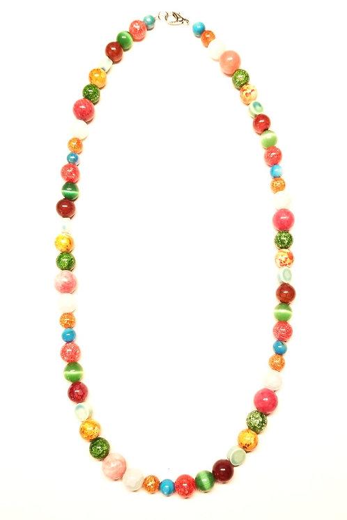 Peas & Carrots & Grapes Necklace