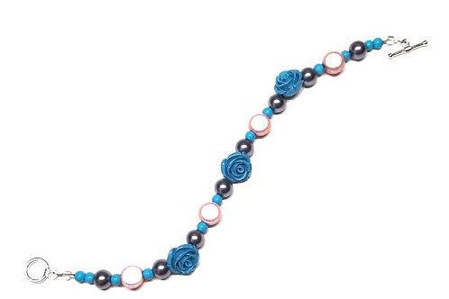 Blue, Pink, Grey Day Bracelet