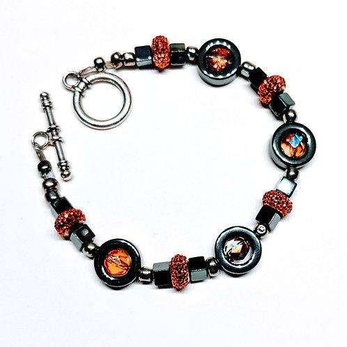 Orange-Gold Galaxy Bracelet