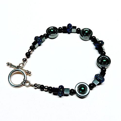 Green-Blue Galaxy Bracelet