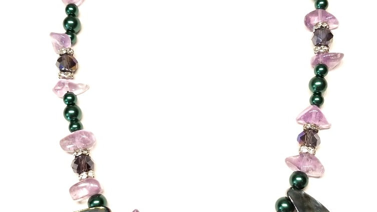 Purple-Green Sea Necklace