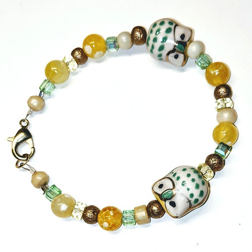 Yellow Owls Bracelet