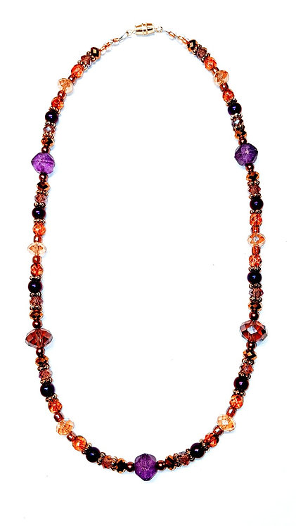 Purple & Gold Glamour Necklace