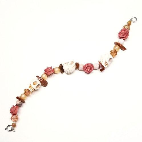 Rosewood and Skulls Bracelet