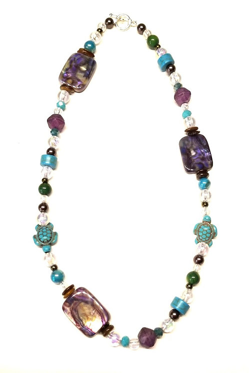 Turquoise & Bubbles Necklace