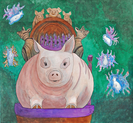 Queen Mama Pig and Her Fairy Piglets