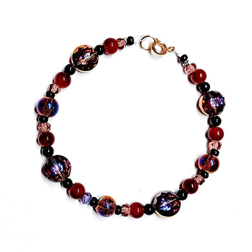 Red-Purple Shimmer Bracelet