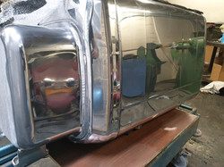 Lorry fuel tank during restoration.