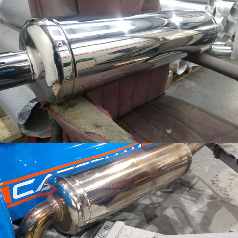 Exhaust system to mirror finish.