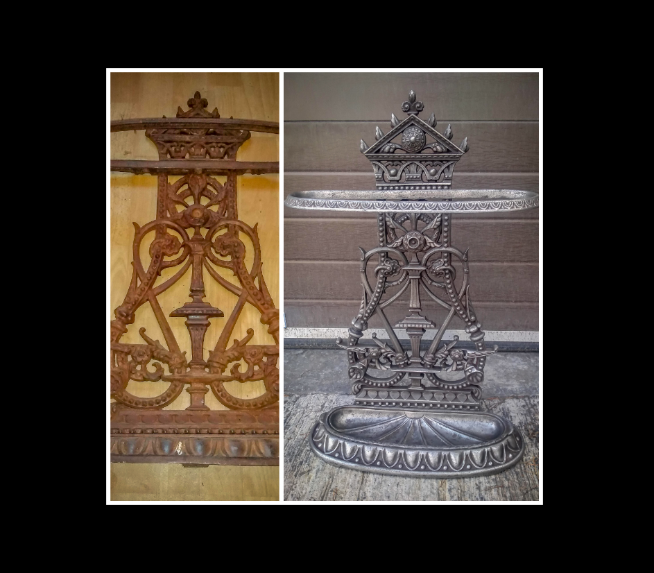 Iron decorative piece restored.