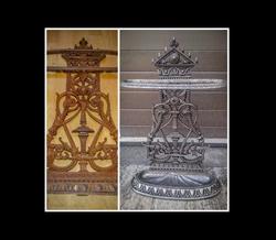 Iron decorative piece restored.