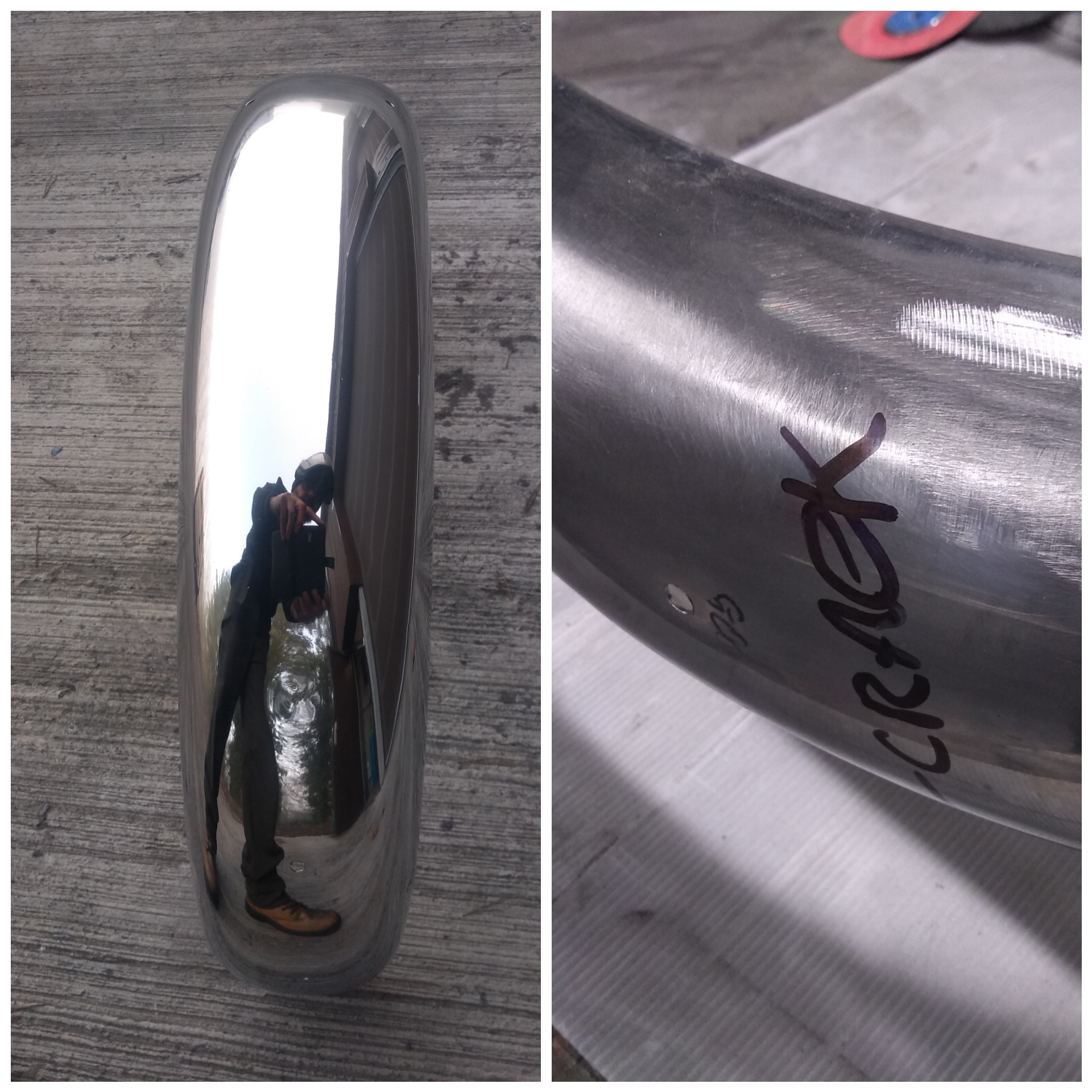 Classic Steel mud guard restored.