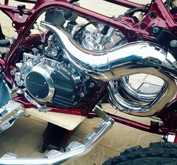 Quad bike engine and exhaust restored to