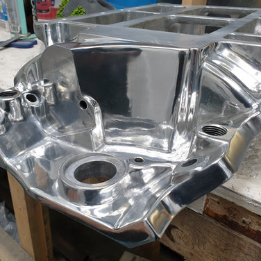 Manifold mirror finish from raw cast.