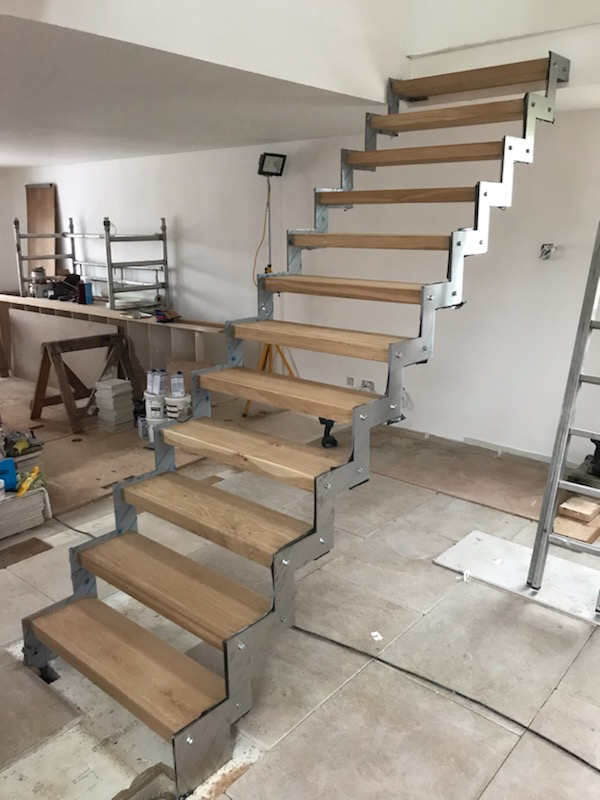Staircase satin finish.