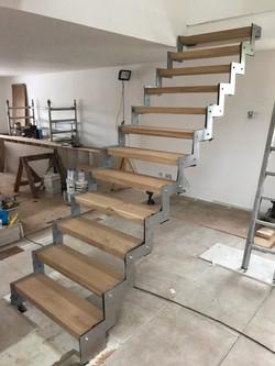 Staircase satin finish.