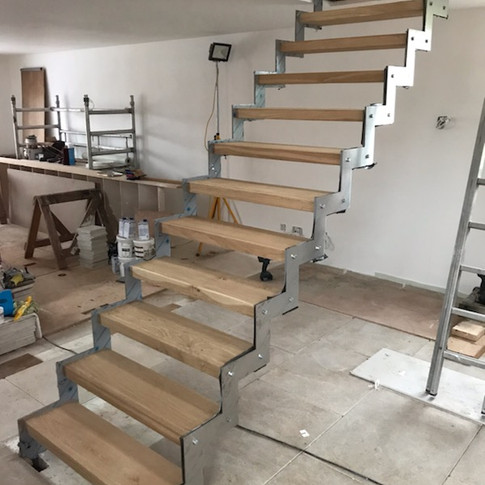 Satin staircase fitted