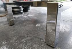Mild steel frame to mirror finish.