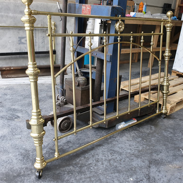 Brass bed frame given new life.
